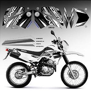 FAIXA Lander 250 grafismo 2018  preto com branco exclusivo