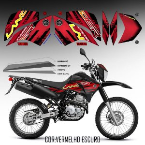 FAIXA Lander 250 preto com vermelho 2018