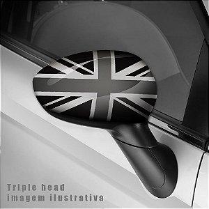 England preto e cinza envelopamento retrovisor