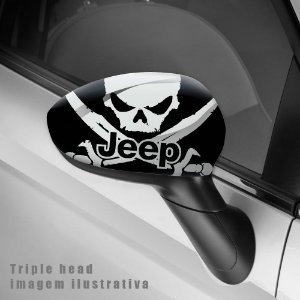 Jeep skull envelopamento retrovisor