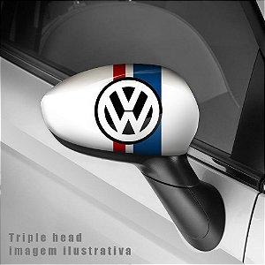 Volkswagen logo envelopamento retrovisor