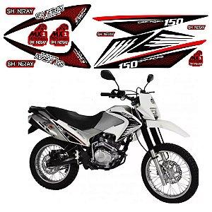 Faixa Shineray Gy Enduro 150cc  branca