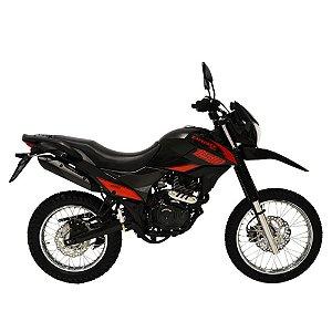Faixa Shineray New Explorer 150cc  preta com vermelho