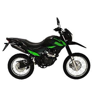 Faixa Shineray New Explorer 150cc  preta com verde