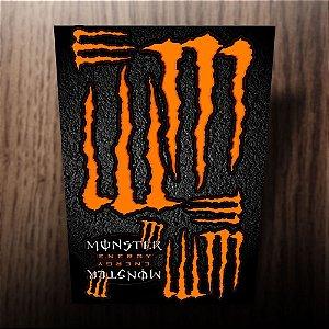 Adesivos refletivos monster energy laranja