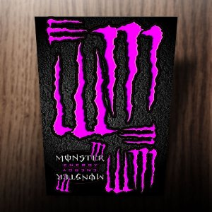 Adesivos monster energy rosa