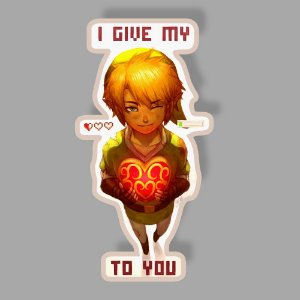 I GIVE MY HEART TO YOU Sticker