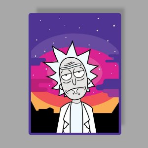 Rick sunset Sticker