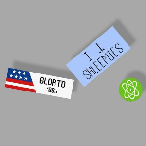 Glorto 86b ship Sticker