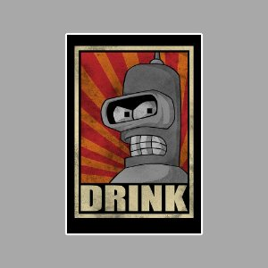 Bender drink Sticker