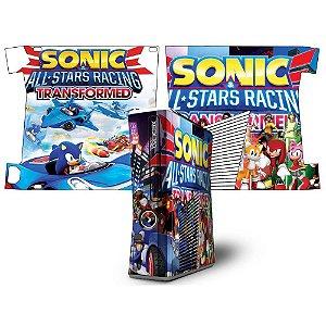 Skin xbox 360 slim sonic all stars racing
