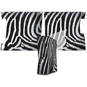 Skin xbox 360 slim zebra