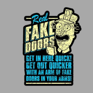 Real Fake Doors Sticker