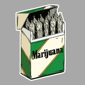 Marijuana cigarretes Sticker