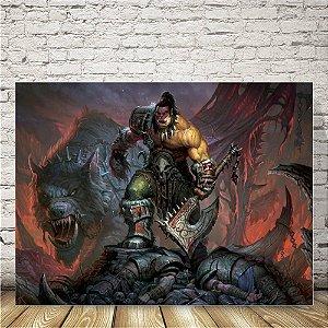 Warcraft Placa mdf decorativa