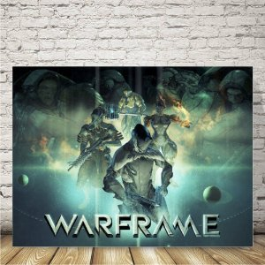 Warframe Placa mdf decorativa