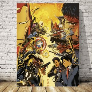 Marvel vs Capcom Placa mdf decorativa