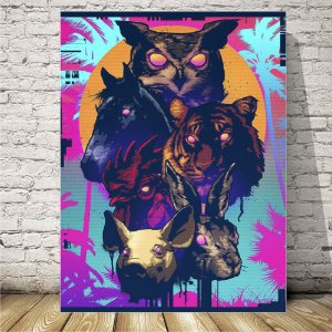 Hotline Miami Placa mdf decorativa