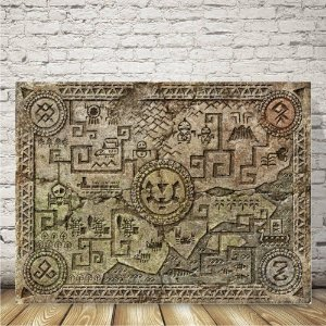 Zelda triforce Placa mdf decorativa