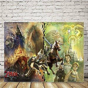 Zelda Triforce Placa mdf decorativa