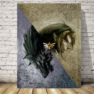 The legend of Zelda wolf Placa mdf decorativa
