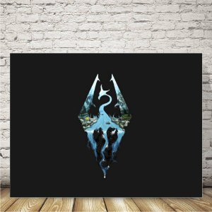 Skyrim logoPlaca mdf decorativa