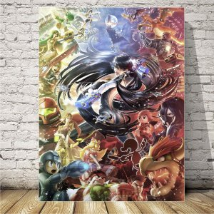 Smash Bros Brawl Placa mdf decorativa