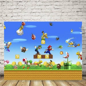 New Super mario bros Placa mdf decorativa
