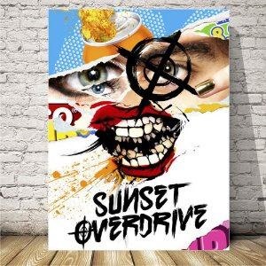 Sunset overdrive Placa mdf decorativa