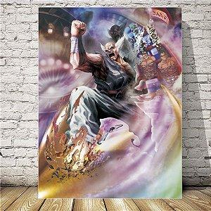 Tekken Heihachi Placa mdf decorativa