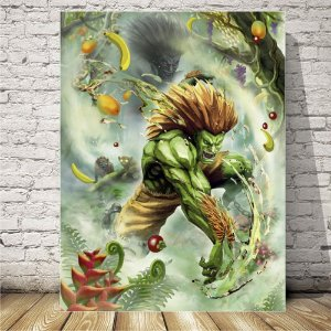Street fighter Blanka Placa decorativa mdf