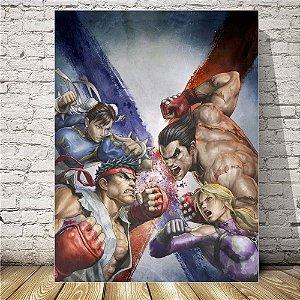 Street fighter Placa decorativa mdf