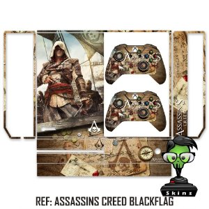 Adesivo skin xbox one fat Assassins creed Black Flag