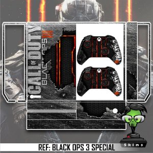 Adesivo skin xbox one fat Call of duty black ops