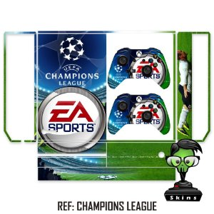 Adesivo skin xbox one fat Champions League