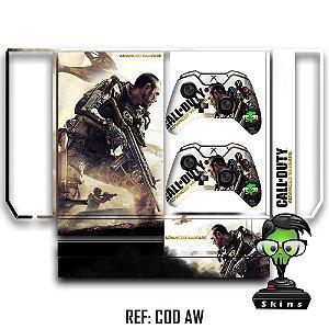 Adesivo skin xbox one fat Call of duty AW