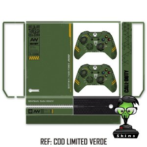 Adesivo skin xbox one fat Call of duty AW limited