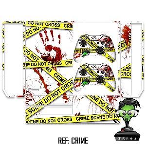 Adesivo skin xbox one fat crime