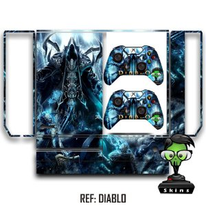 Adesivo skin xbox one fat Diablo reaper souls