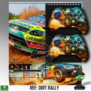 Adesivo skin xbox one fat Dirt Rally