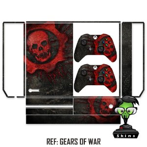 Adesivo skin xbox one fat Gears of war
