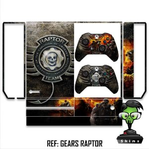 Adesivo skin xbox one fat Gears of war raptor