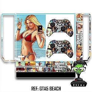Adesivo skin xbox one fat Gta 5 beach