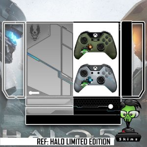 Adesivo skin xbox one fat Halo limited