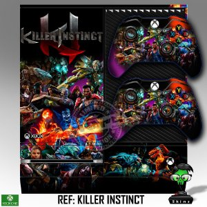 Adesivo skin xbox one fat Killer instinct