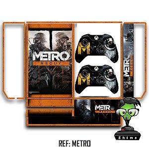 Adesivo skin xbox one fat Metro