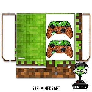 Adesivo skin xbox one fat Minecraft