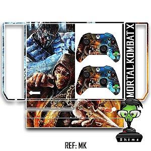 Adesivo skin xbox one fat Mortal kombat x