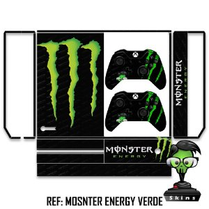 Adesivo skin xbox one fat Monster energy