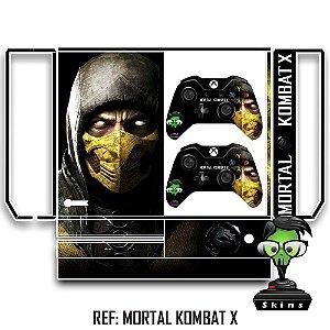 Adesivo skin xbox one fat Mortal kombat scorpion